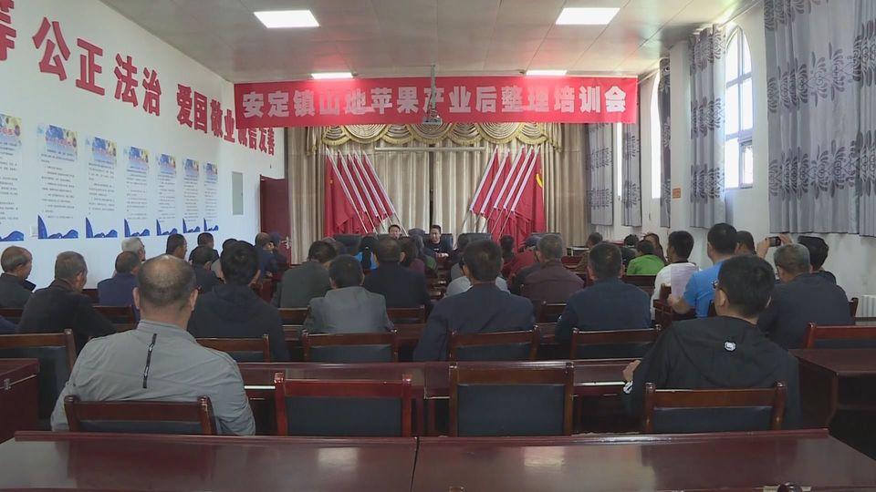 子长县200多人参加苹果后整理培训